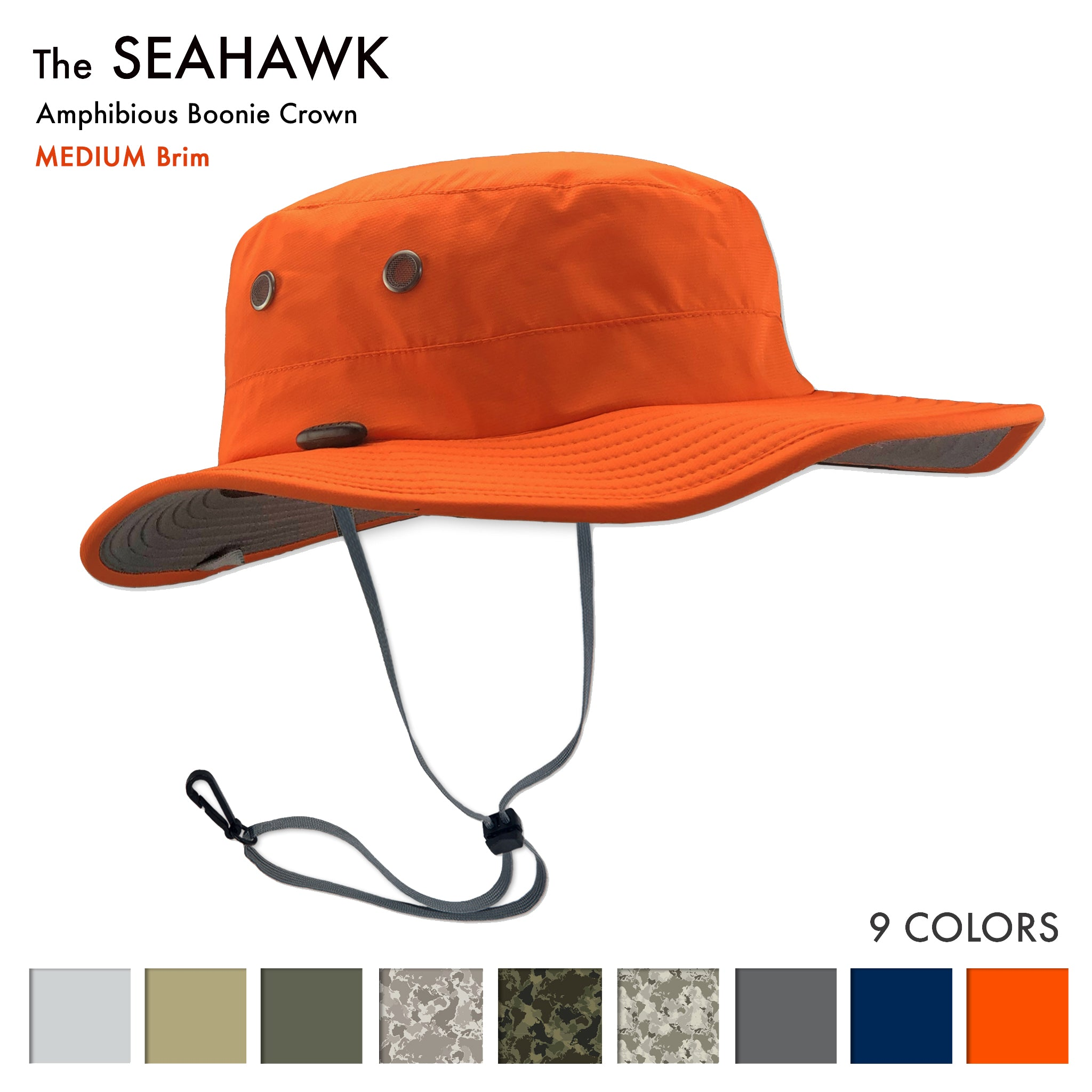 The Seahawk Sun Hats are the best sun hats for river rafting, PWC, Fishing, Wake Boarding, Sailing, Water skiing and Boating - Great sun hat for Stand up paddle boarding - sup - paddle surfing, wakeboarding, windsurfing, hiking, rowing and golfing - and a good sun hat for surfing, shooting and fly fishing. This is the best fathers day gift idea