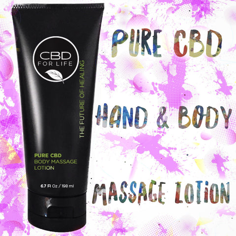 cbd hand and body massage lotion