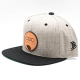 CBD For Life Snap back - BLACK/GRAY