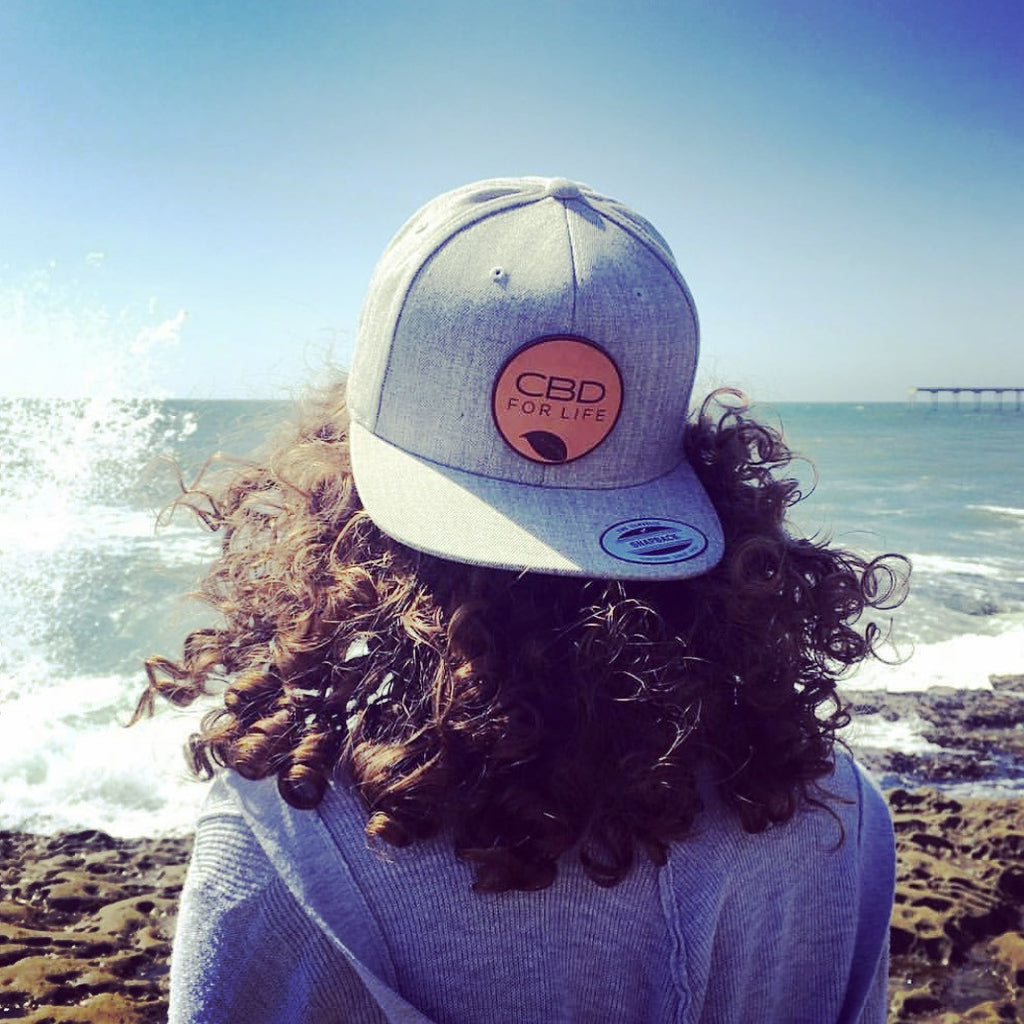 CBD For Life Snap Back - Heather Gray