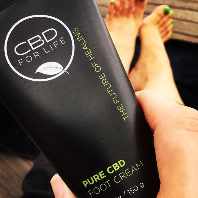 pure cbd foot cream, cbd cream ideal for pain relief and tired feet - cannabidiol