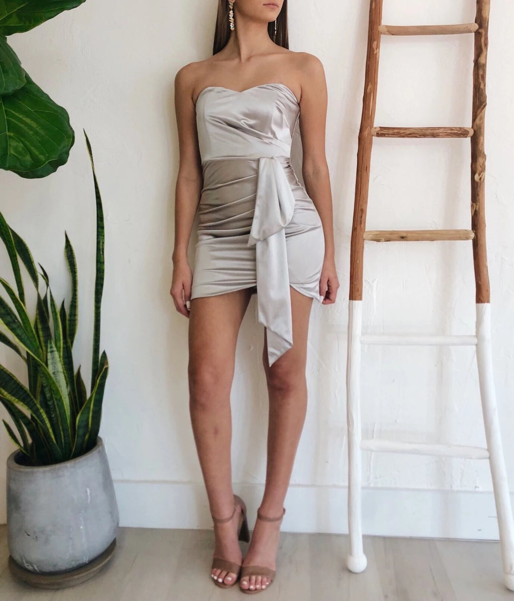 Ella Dress in Silver