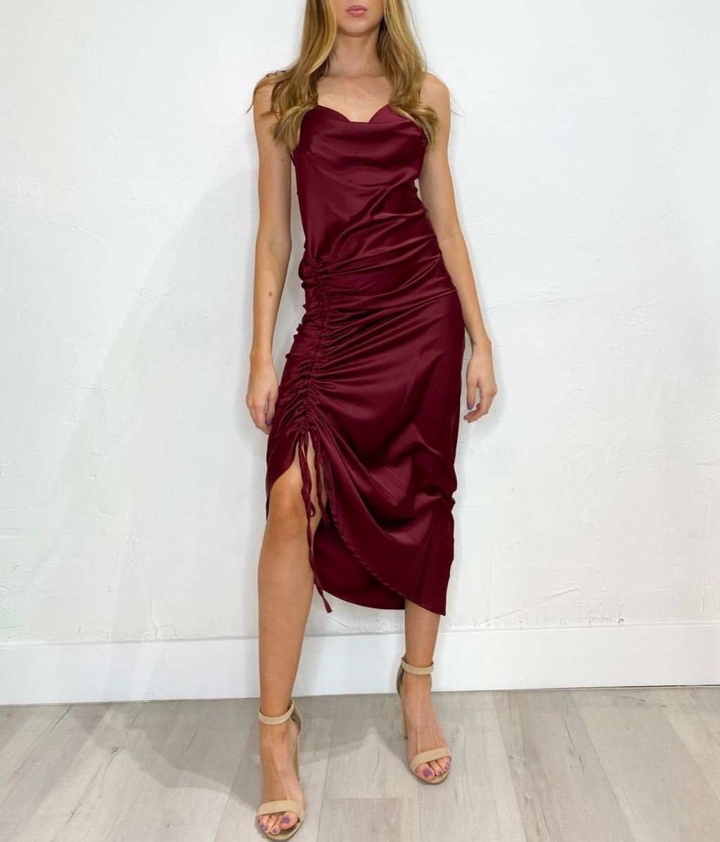 Veronica Dress in Burgundy
