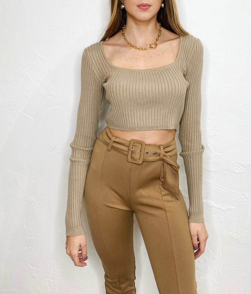 Lizzy Top in Taupe