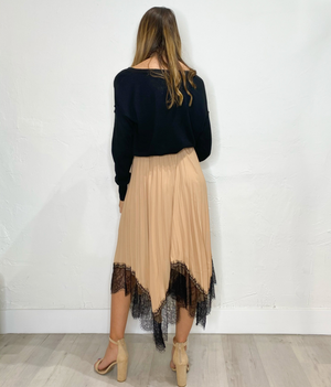 Handkerchief Skirt in Nude