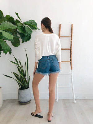 Ashley Shorts - Dark Wash