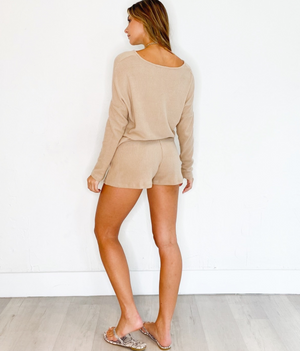 Lounging All Day Shorts in Beige
