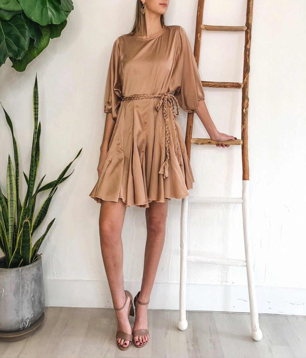 Alina Dress - Gold