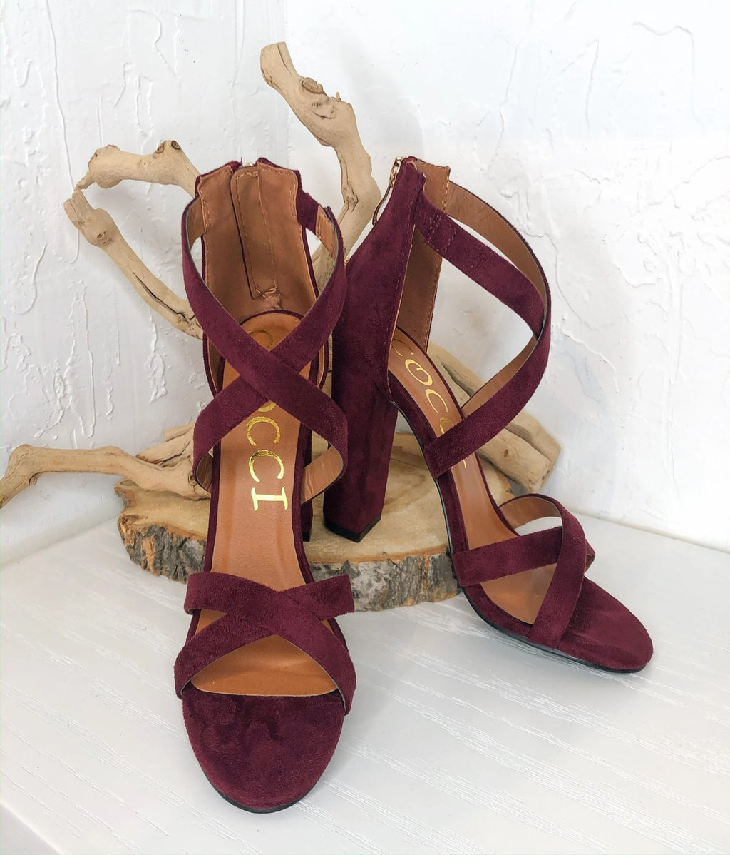 Riley Heels - Burgundy