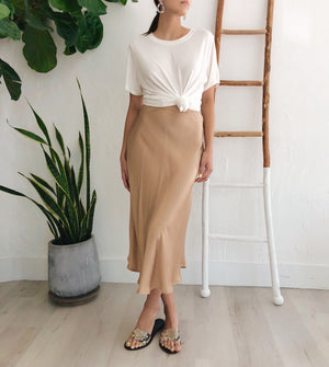 Luna Skirt in Champagne