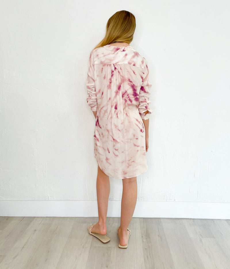 Lizzy Dress in Ivory Raspberry