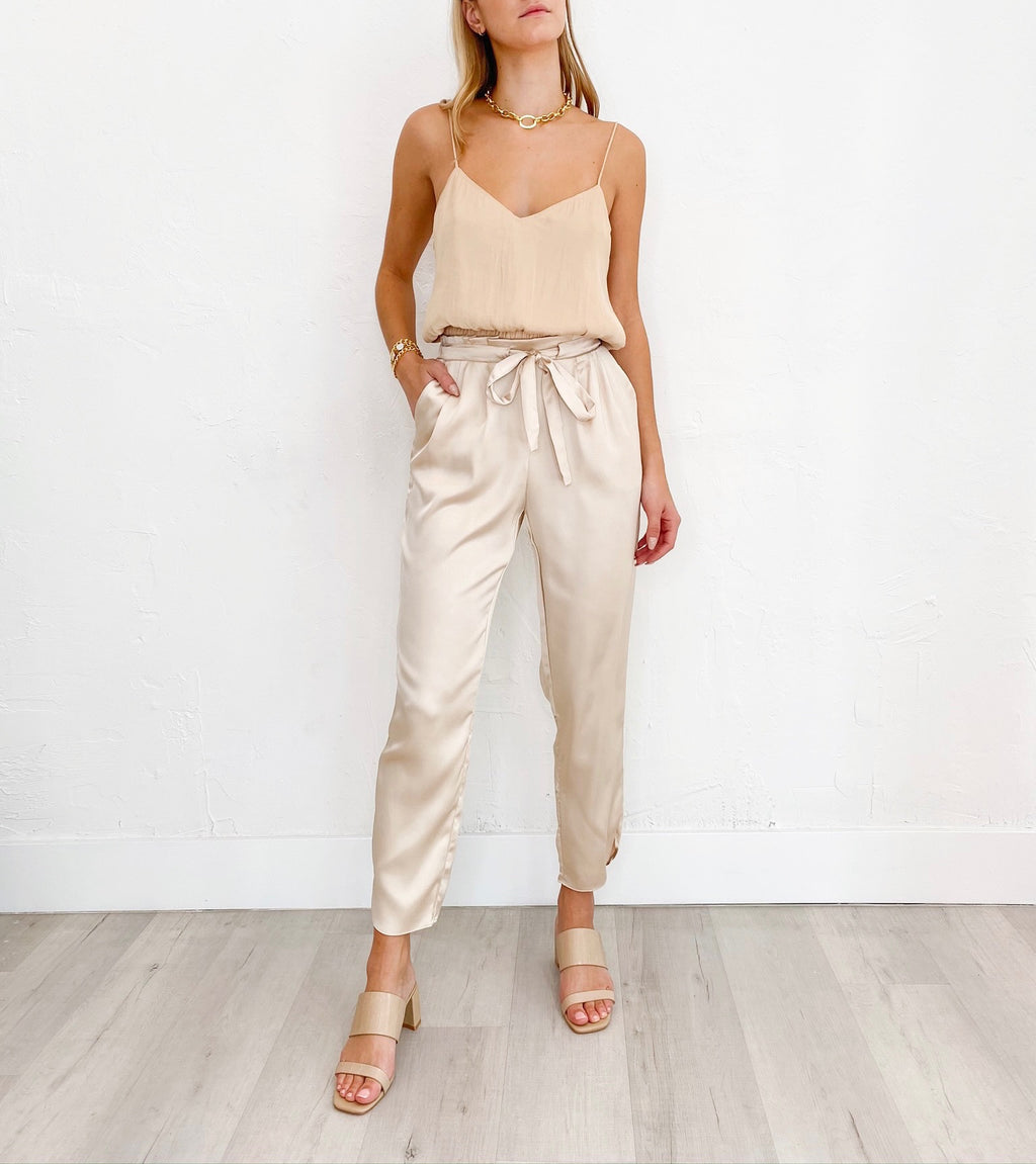 Champagne Dreams Pants in Nude