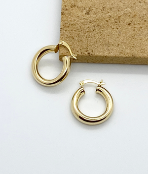 Medium Tubular Gold Hoops