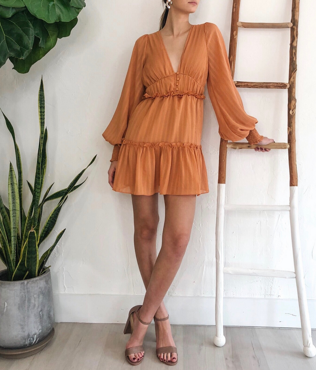 Bree Dress in Rust