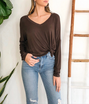 Leslie Top - Dark Brown