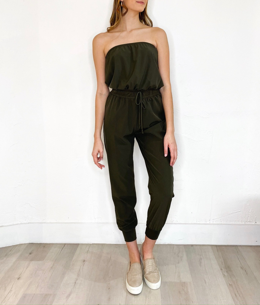 Stella Jumpsuit in Army Green