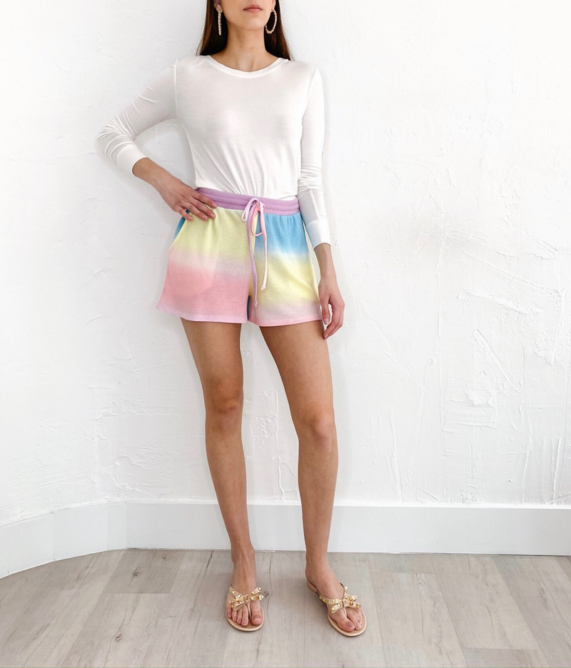 Ayana Shorts in Tie Dye