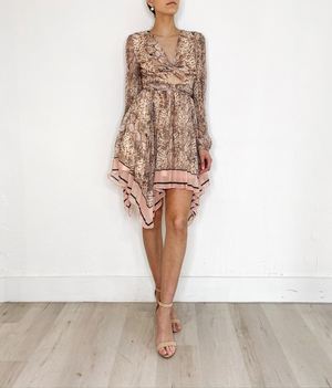 Ray Dress in Snake Print