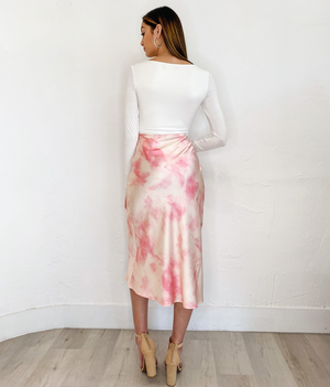Remy Skirt in Pink Tie Dye