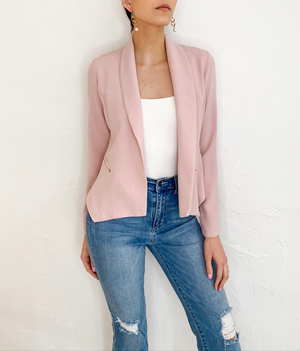 Liza Blazer in Blush