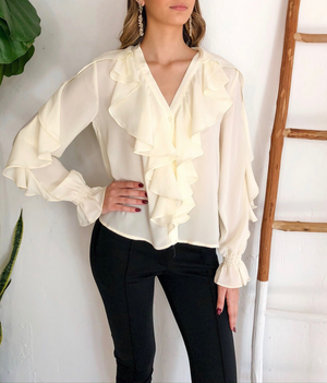 Aiden Top in Cream