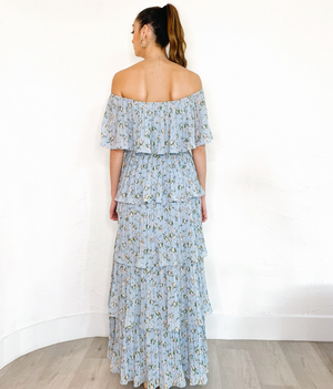 Destini Dress in Soft Blue