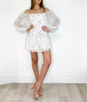 Sadie Dress in Ivory Flower