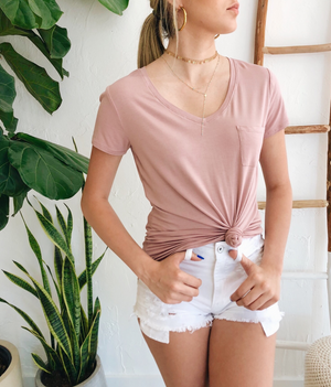 Amanda Tee in Dusty Rose