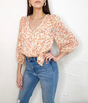 Presley Top in Coral