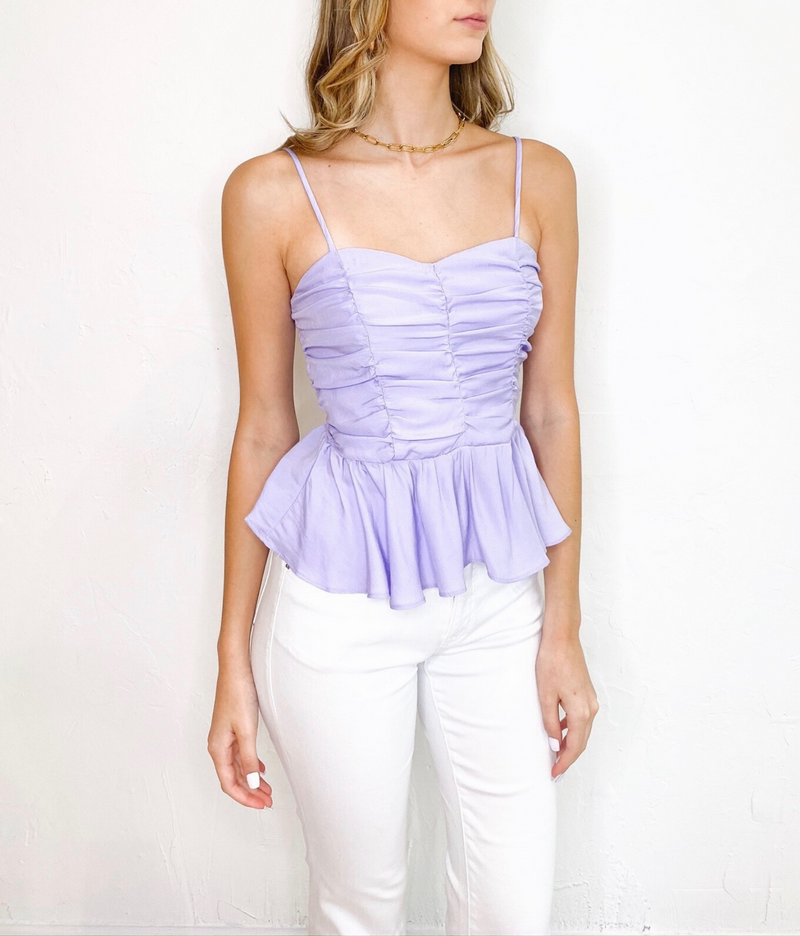 Fallon Ruched Top in Lavender