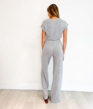 Elina Set in Heather Grey