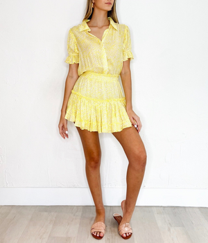 Lila Dress in Yellow Floral
