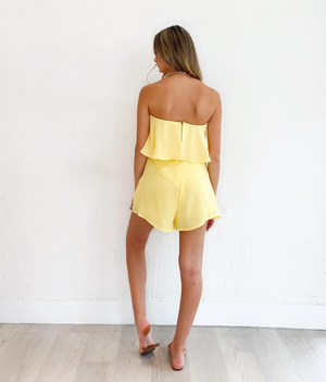 Olivia Romper in Yellow