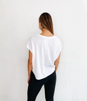 Elise Crop Top in White