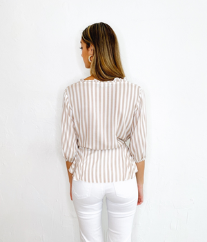Fiona Top in White Beige