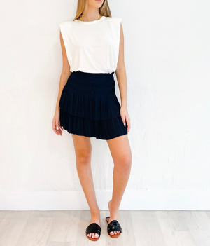 Ellis Skirt in Dark Navy