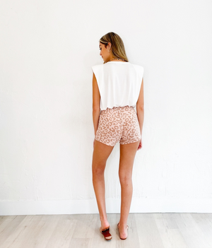 Cara Shorts in Pink Leopard