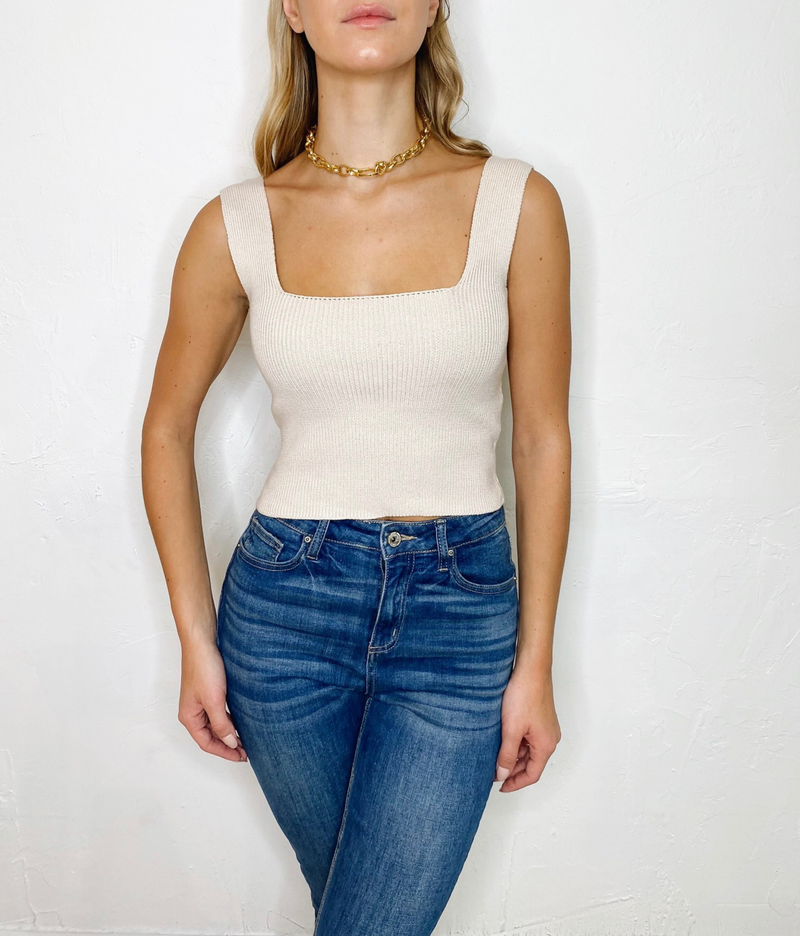 Aria Knit Top in Nude
