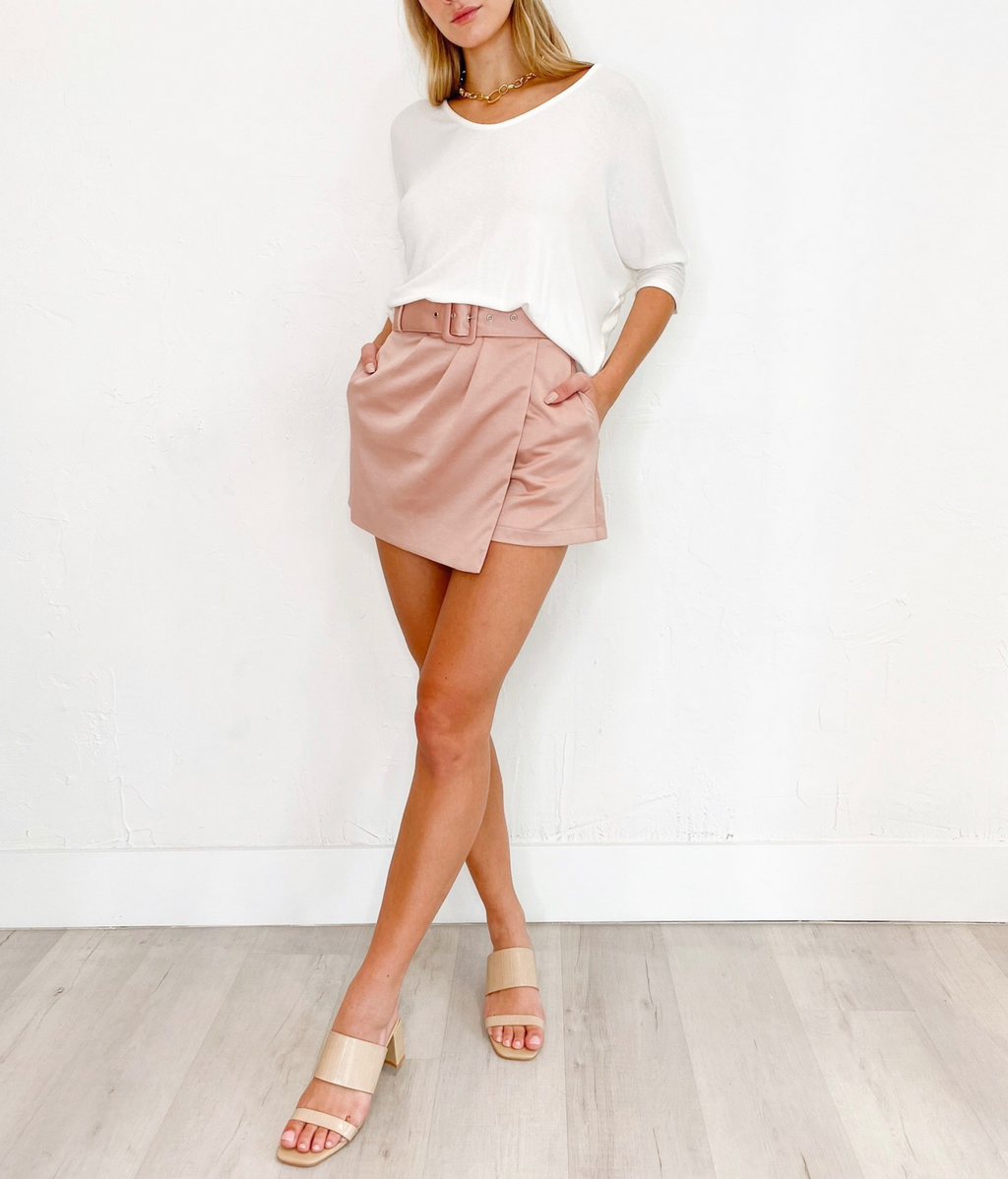 Cullen Shorts in Mauve