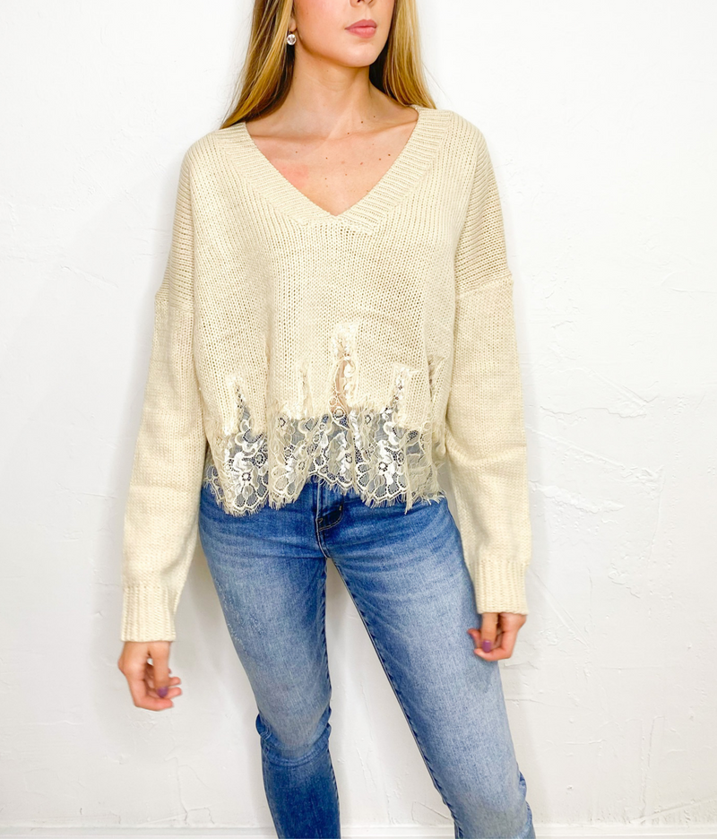 Amber Knit Sweater in Taupe