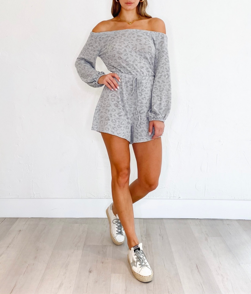 Allure Romper in Heather
