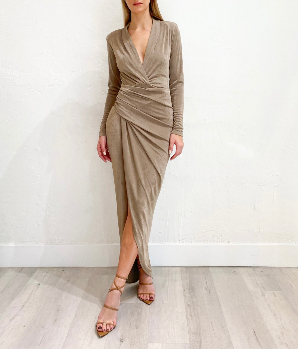 Candice Dress in Mocha