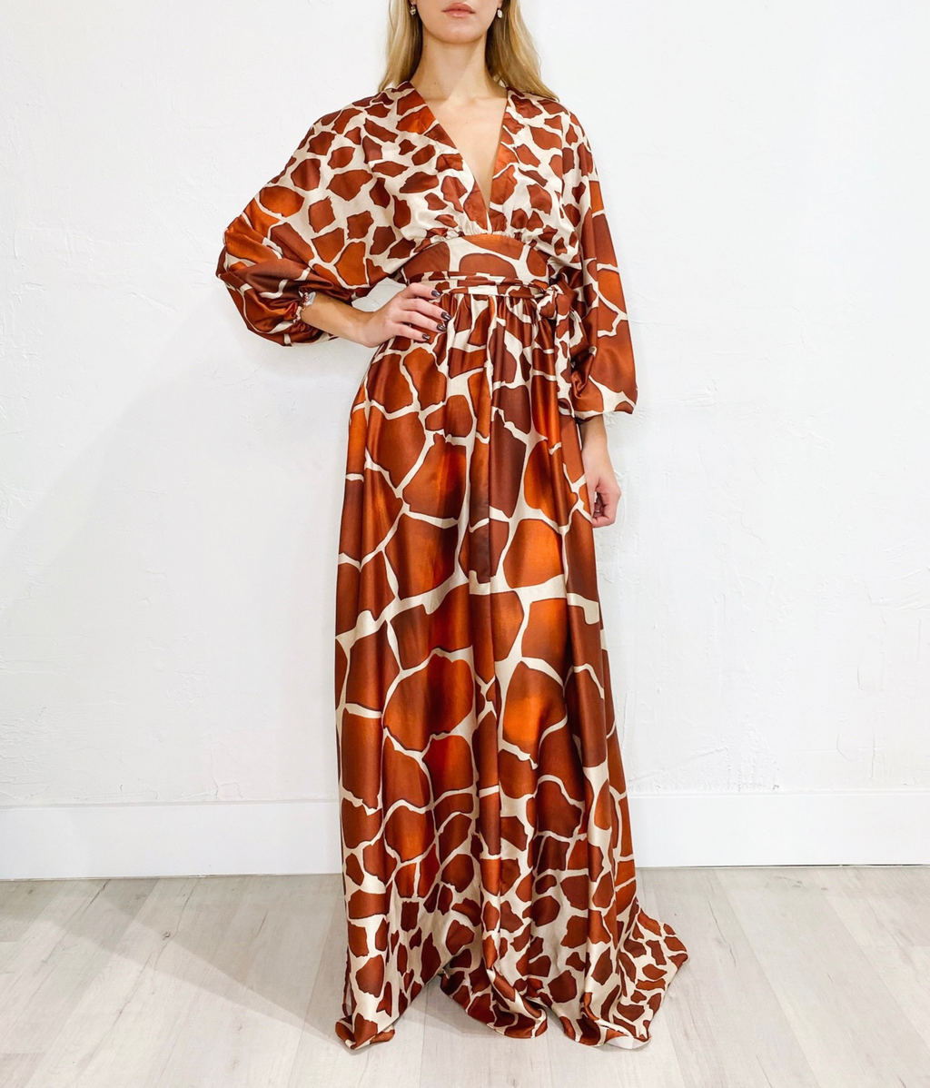 Safari Maxi Dress in Rust