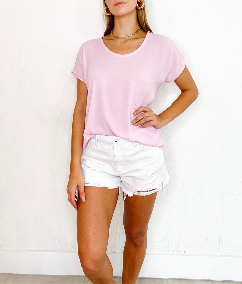 Grace Top in Pink