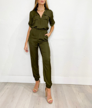 Marissa Jumpsuit in Olive Tree