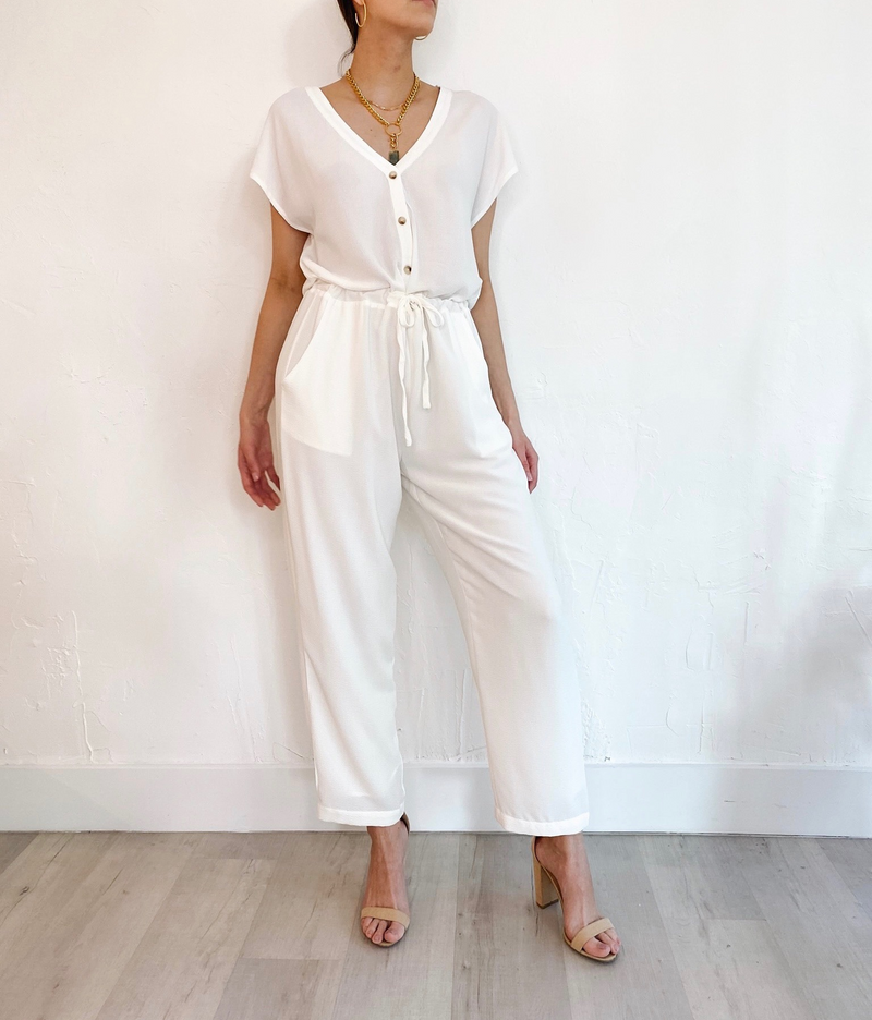 Aya Jumpsuit in White
