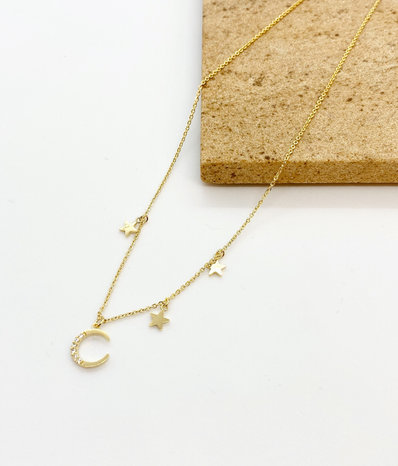 Moon Star Necklace