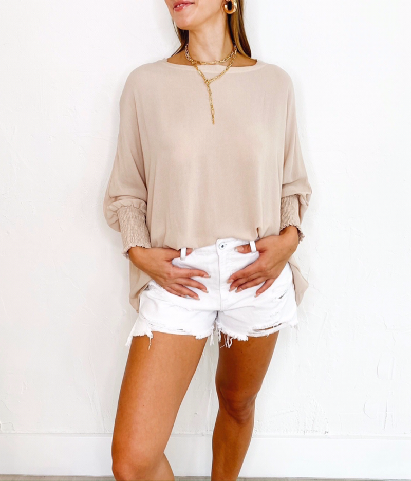 Zion Blouse in Sand