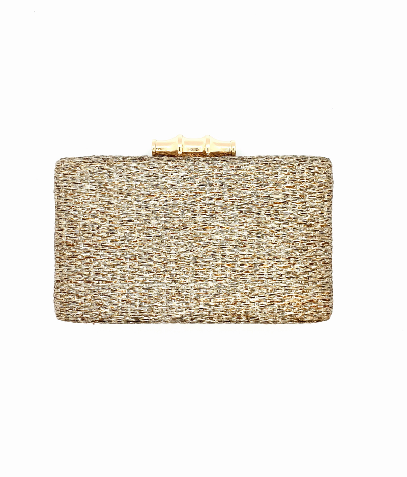 Copper  Whicker Clutch