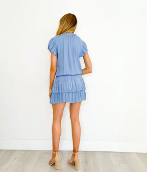 Madison Dress in Periwinkle Blue